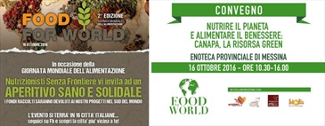 16 ottobre 2016 aperitivo solidale Food for World