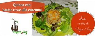Quinoa con batate rosse alla curcuma