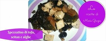 Spezzatino di tofu, seitan e alghe