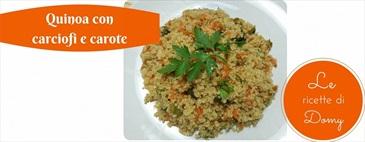 Quinoa con carciofi e carote
