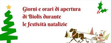 Orari di apertura di Biolis durante le festività natalizie