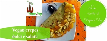 Vegan crepes dolci e salate