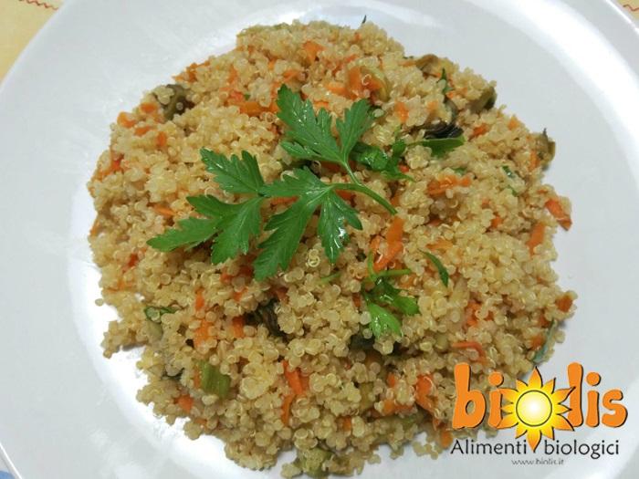 Ricetta Quinoa Con Carciofi.Quinoa Con Carciofi E Carote