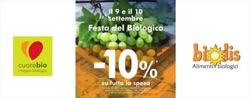 Il 9 e 10 settembre da Biolis -10% su tutta la spesa!