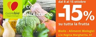 I colori dell'autunno | -15% sull'ortofrutta dall'8 al 15