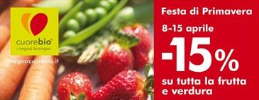 Festa di Primavera|-15% su frutta e verdura dall'8 al 15/4