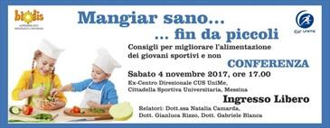 04-11-2017 Conferenza: Mangiar sano... fin da piccoli