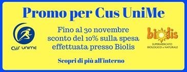 Promo per Cus UniMe: -10% sulla spesa fino al 30/11