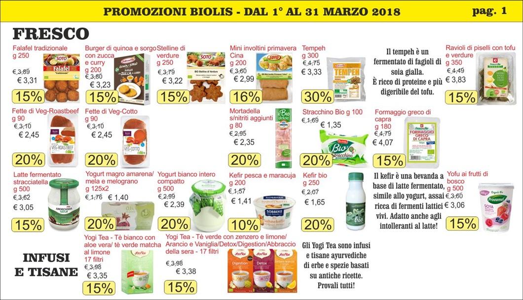 Volantini offerte marzo 2018 - Biolis, negozio biologico di Messina - Pag 1