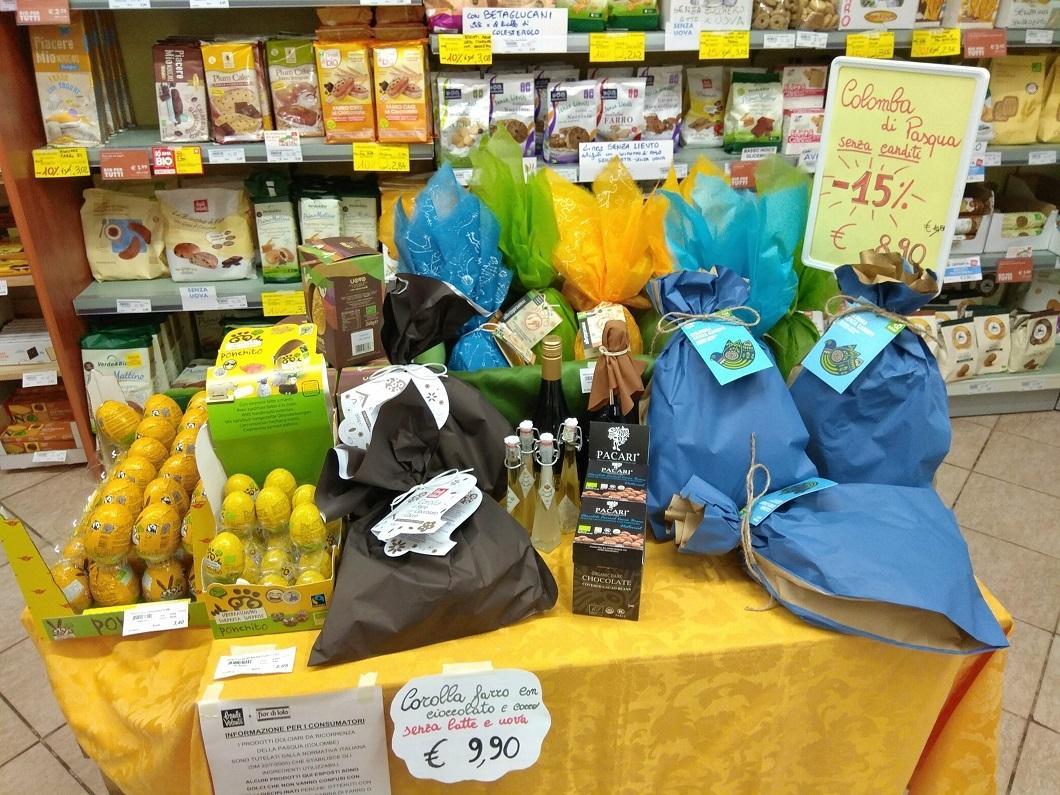 Assortimento di prodotti pasquale di Biolis - Negozio biologico di Messina per la Pasqua 2018