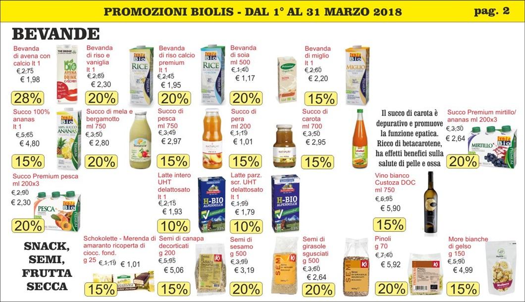 Volantini offerte marzo 2018 - Biolis, negozio bio di Messina - pag 2