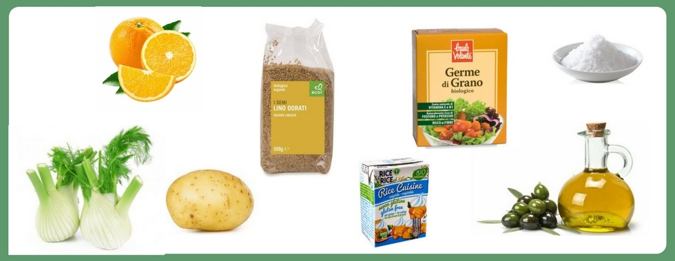 Ingredienti flan di finocchi all'arancia - Ricetta vegan su biolis.it, negozio bio di Messina