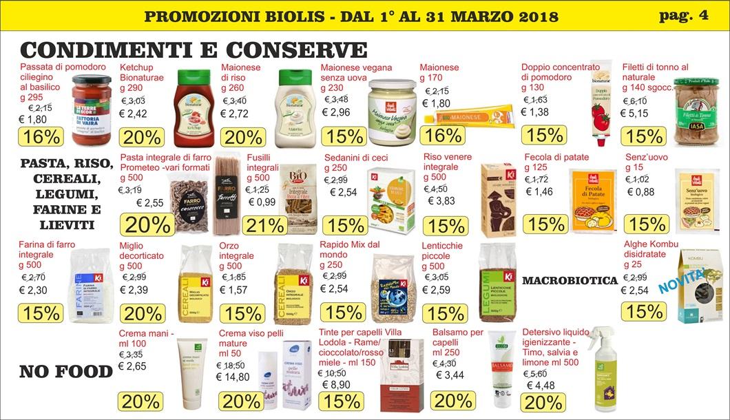 Volantini offerte marzo 2018 - Biolis, negozio bio di Messina - pag 4