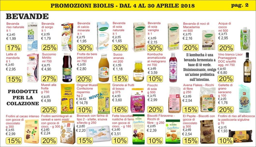 Volantino offerte Biolis - Supermercato del Biologico e del Naturale di Messina - Promozioni aprile 2018 - Pag 2