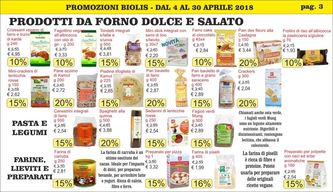 Volantino offerte prodotti biologici a Messina - Biolis, supermercato del biologico e del naturale pag. 3