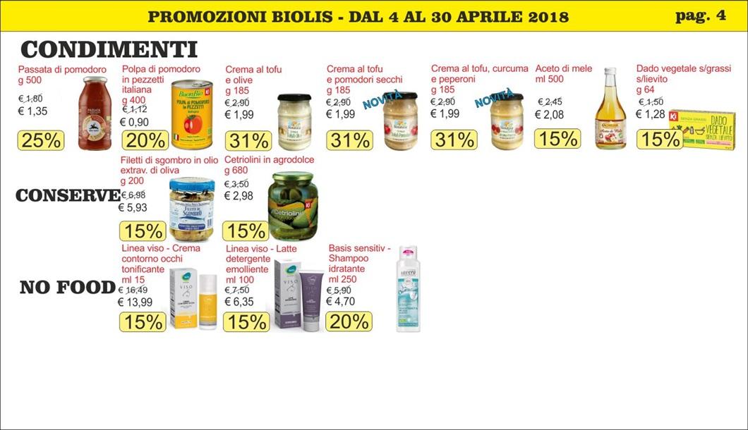 Promozioni prodotti biologici a Messina mese di aprile 2018 da Biolis, supermercato biologico a Messina