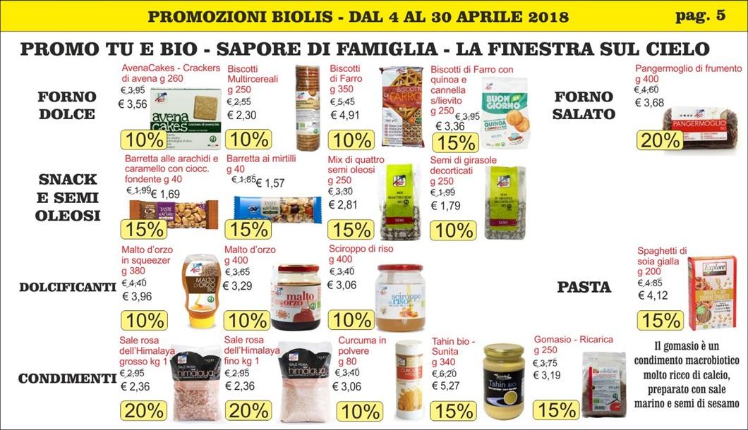 Offerte bio a Messina - Volantino aprile 2018 di Biolis - supermercato del biologico e del naturale - Promo tu e bio - Sapore di Famiglia di La Finestra sul Cielo